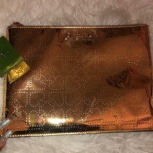Kate Spade gold clutch